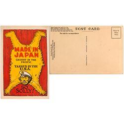 WWII Anti-Japanese Postcard