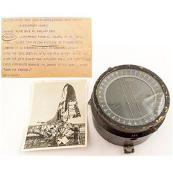 WWII B17/B24 Compass and B17 photo