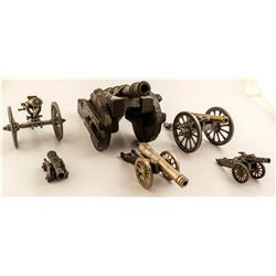6 Assorted Decorative Cannons