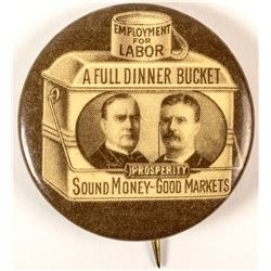 McKinley and Roosevelt Jugate Button