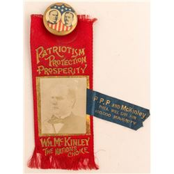 McKinley/Roosevelt Election Badge and Ribbon