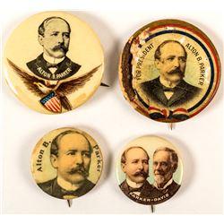 4 Different Alton B. Parker Buttons