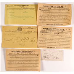 Six Rare Pieces of Mono County Ephemera