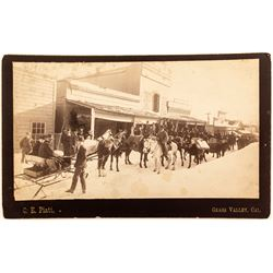 Grass Valley, CA Cabinet Card, Sled & Snow