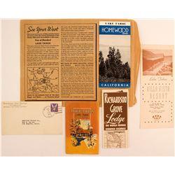 Lake Tahoe Advertising Pamphlets, Covers, & Ephemera