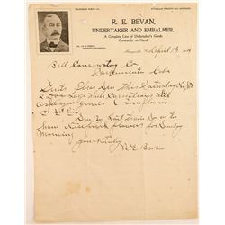 1904 Letter from Marysville Undertaker