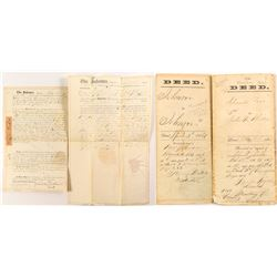 Two 1866 Monterey Land Deeds: Including one to Petronilo Rios