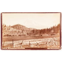 Taber Photograph of Mt. Shasta from Cavanaughs