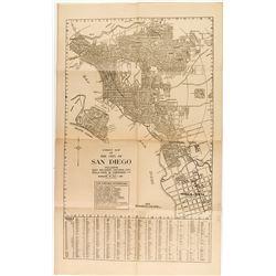 Early 1900's San Diego Street Map