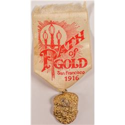 1916 Path of Gold Ribbon with Faux Gold Nugget