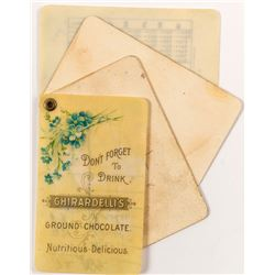 Ghirardelli Chocolate Calendar / Note Pad Fold Out