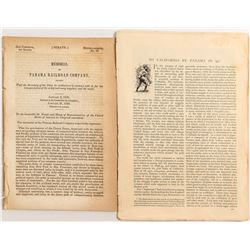 Two 1850 papers on the Ocean Voyage to California through Panama