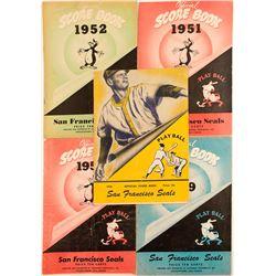 Five Consecutive Year San Francisco Seals Score Books