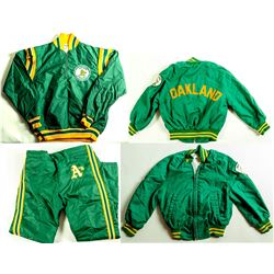 3 Oakland A's Jackets and Pants