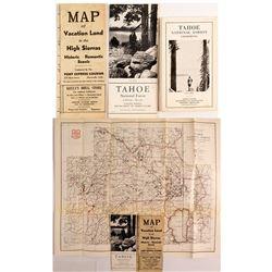 Three Old Sierra Nevada Maps