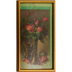 Framed Sonora Art Calendar and Tuolumne Advertising Print