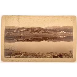 Cabinet Card of Sellers Lake at Beulah, Colorado
