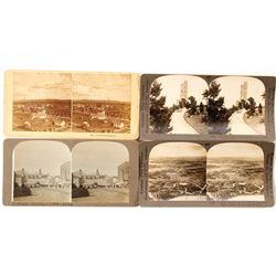 Four Different Colorado Springs Stereoviews