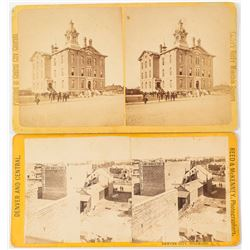 Two Early Denver Stereoviews