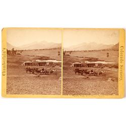 Estes Park and Long's Peak Stereoview