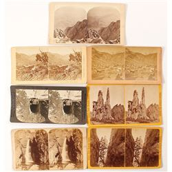 7 Different Manitou, Colorado Scenery Stereoviews