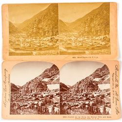Two Silver Plume, Colorado Stereoviews