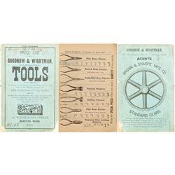 Choice 1889 Tool Goodnow & Wightman Catalog