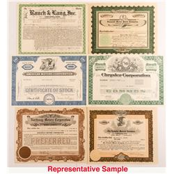 Automobile Companies Stock Certificate Collection
