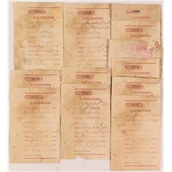 Territorial License Receipts for Montana Saloon Operators