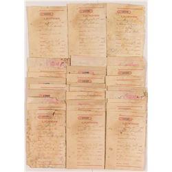 Territorial Benton, Montana License Receipt Collection