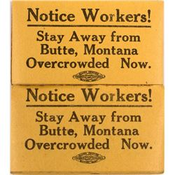 2 Butte Labor Union Strike Pads