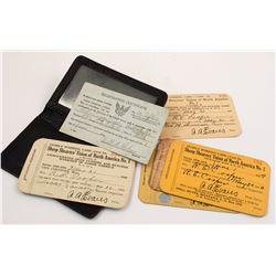 Five Sheep Shearer's Union Cards