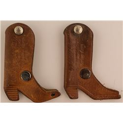 Two Montana Cowboy Boot Advertising Pieces (One Saloon)