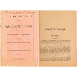 Constitution of the State of Montana, 1889, Territorial