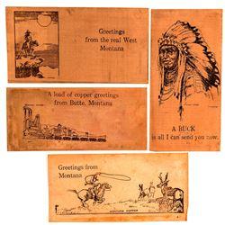 4 Different Montana Copper Foils