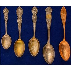Five Montana Souvenir Spoons