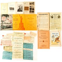 Montana Check Group Plus Other Ephemera