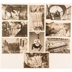 Nine Frasher Real Photo Postcards of the Building of Boulder Dam