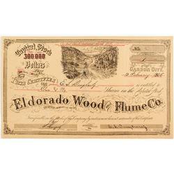 Eldorado Wood & Flume Company Stock Certificate