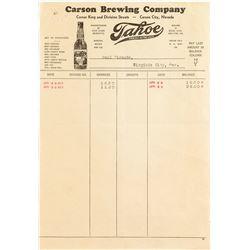 Carson Brewing Company Receipt