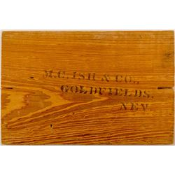 M. C. Ish & Company, Goldfields, Nev. Box End