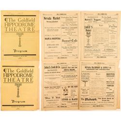 Two 1907 Goldfield Hippodrome Theatre Programs