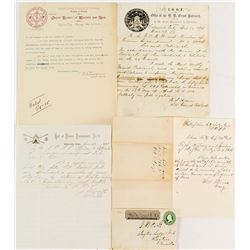 Group of Virginia City, Nevada Letterheads plus Silver City