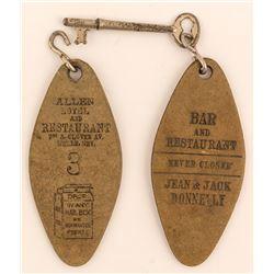 2 Allen Hotel Key Fobs