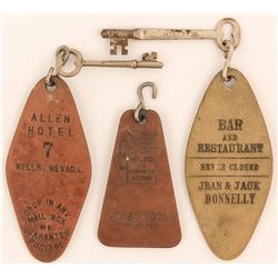 3 Different Allen Hotel Key Fobs