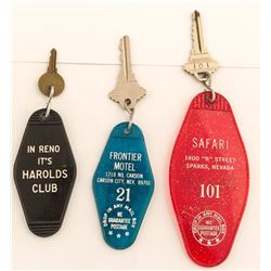 3 Different Northern Nevada Advertising Key Fobs
