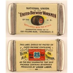 United Brewery Workmen Matchcase