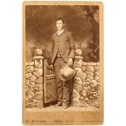 Cabinet Card of Texan by C. Peterson