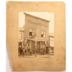 c1895 Photograph of the Mercur Mercury Newspaper Office