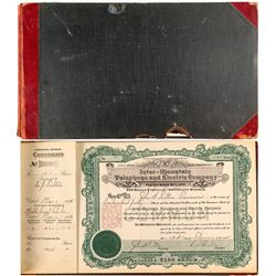 Stock Certificate Book from Inter-Mountain Telephone and Electric Company